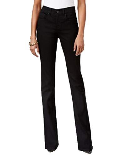 Style&Co Tummy-Control Slim-Leg Jeans (Noir, - Co Style Wide Pant Leg Woman &