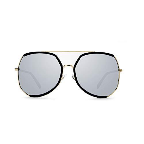 Soleil Générique Verres Sunglasses Visage polarisés Soleil Grand Lunettes de Bleu Rond Lunettes de Cadre personnalité Couleur marée Noir modèles d'étoiles Nouveau Long Femmes 7wrqdUw