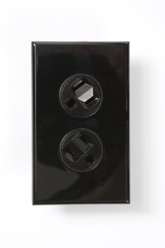 360 Electrical 36014-B Rotating Duplex Outlet, Black by 360 (360 Electrical Rotating Duplex Outlet)