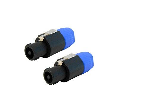 Audio2000'S tm ACC31A1-P (2 pc) Speakon Male to 1/4