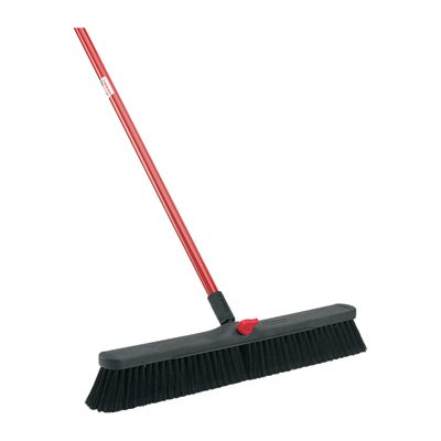 LIBMAN 801.0 Push Broom with Resin Block, Fine Duty Bristles, 24″