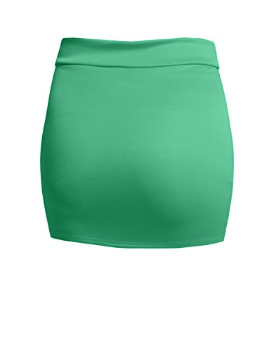 NE PEOPLE Women's Stretch Knit Bodycon Mini Pencil Skirt Made In USA by NE PEOPLE (Image #1)