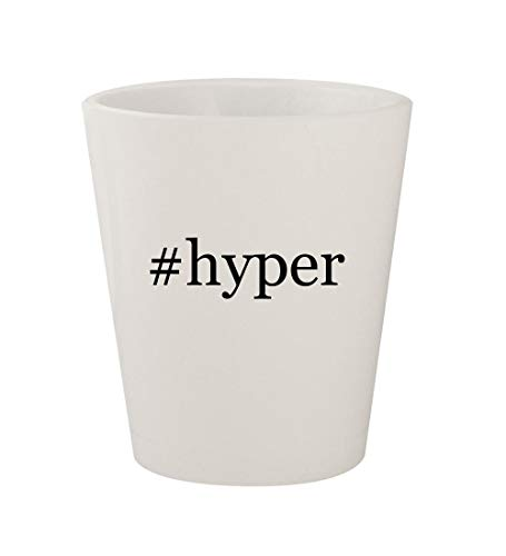#hyper - Ceramic White Hashtag 1.5oz Shot Glass