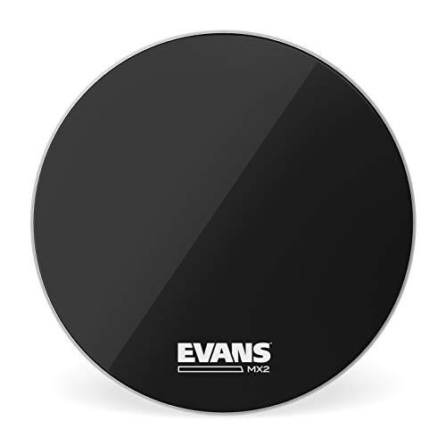 Evans MX2 Black Marching Bass Drum Head, 18 Inch