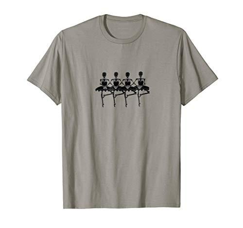 Halloween Shirt for Dancers Funny Skeleton Swan Lake