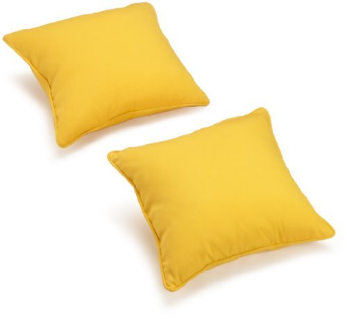 Blazing Needles Twill 18-Inch by 18-Inch by 5-1/2-Inch Throw Pillow, Sun Set, Set of 2 - Poly / cotton twill fabric Re-generated micro denier (feather soft) fiber fill Zippered removable cover for easy cleaning - living-room-soft-furnishings, living-room, decorative-pillows - 31AC0DTOp9L -