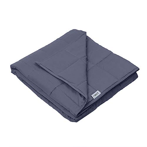 ZonLi Cool Weighted Blanket (60''x80'', 20lbs for 170-230lb Individual, Grey) for Adults Women, Men, Children | Great for Insomnia, Autism, Stress and Anxiety Relief | Fit King Sized Bed