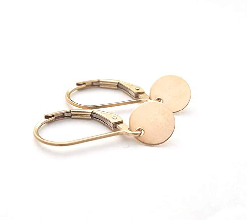 Tiny 14k Yellow Gold Filled Earrings