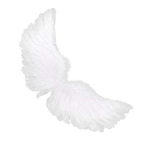 YiZYiF Angel Wing Real Feather Fairy Wing Christmas Masquerade Carnival Cosplay Costume Type C M