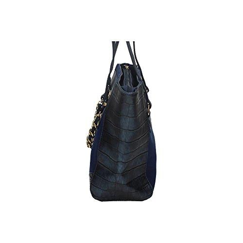 Mujer Azul Serpient Xti carteras Bolsos 85623 Bolso Simil 8agI0