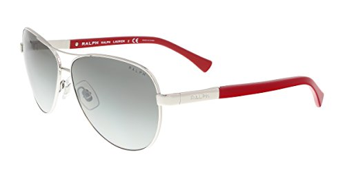 Ralph by Ralph Lauren Women's 0RA4116 Silver/Red One - Aviators Ralph Lauren