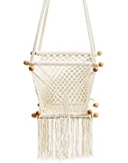 Macrame Baby Swing Chair | Homemade Hanging Baby Swing Chair, A Stylish Design Hanging Swing for Your Baby to Remain Safe Off The Ground by Click and Craft