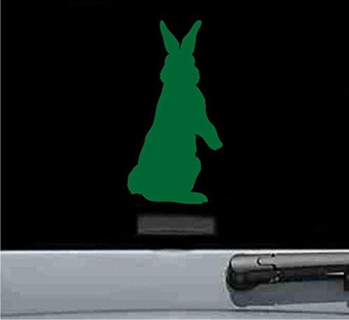 - Cute bunny silhouette Vinyl Decal Sticker rabbit (GREEN)