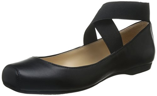 Jessica Simpson Women's Mandalaye Ballet Flat,Black,5 M - Leather Jessica