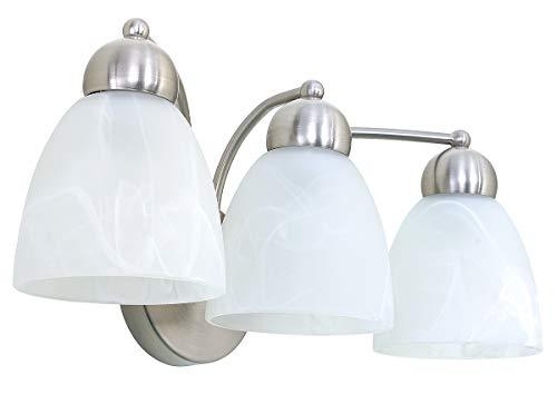 Sunnyfair 3-Light Vanity Lights Bathroom Wall Lighting Fixture Oval Frosted Glass Shades,UL Listed