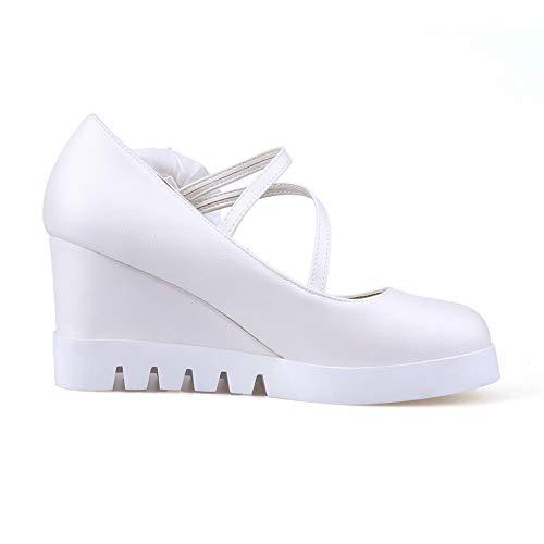 Compensées Blanc DIU01288 AN Femme 5 36 Sandales Blanc AFRxwnvaOq