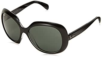Ray-Ban Women's ORB4208 61007155 Oval Sunglasses,Top Black & Transparent,55 mm