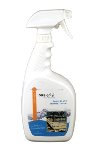 Surface Cleaner Spray Bottle - Orb-3 A011-J5R-1Qspry Ready-to-Use Enzyme Cleaner Spray Bottle for Pools, 1-Quart