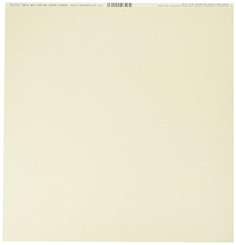 Bazzill BAZ302118 Cdstk 12x12 Bling String/Pearls Card Stock