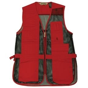 Bob-Allen Shooting Vest, Right Handed, Red, Large