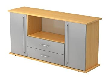 Hammerbacher Sideboard Sbts Re Buche Silber Amazon Co Uk Office