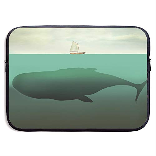 Fantasy Surreal Giant Whale Sea Sailboat Laptop Sleeve Bag Compatible Notebook Computer Protective Cover for 13 Inch Computer ()