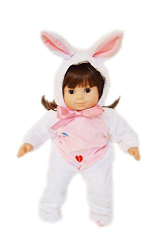 My Brittany's White Easter Bunny Costume for Bitty Twin Dolls (Twin Girl Costumes)