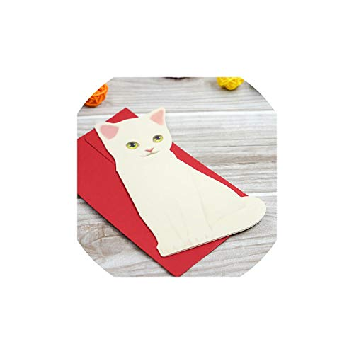Greeting Card1Pc Cute Cat Folding Greeting Card Birthday Christmas Cards Envelope Writing Paper Stationery - Bar Mitzvah Chai