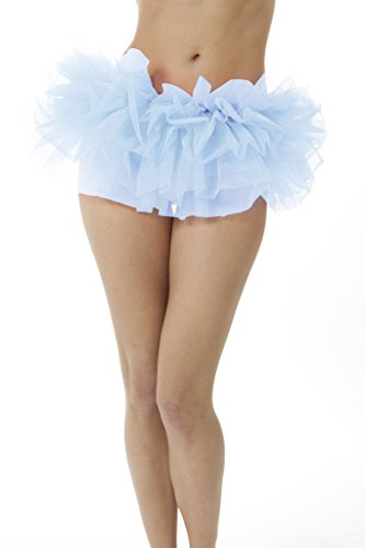 Adult Tutu Skirt, by BellaSous. Perfect as a Halloween Costume, Princess tutu, Ballet tutu, Adult Dance Skirt, or as a Petticoat Skirt. Plus size tutu available. Standard - Light Blue (Organza Petticoat)