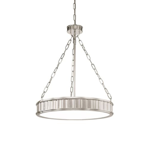Hudson Valley Lighting Middlebury 5-Light Pendant - Polished Nickel Finish with Clear/Frosted Glass Shade (Middlebury Pendant Lighting)