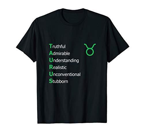 TaurusPersonality Astrology Zodiac Sign Horoscope Design T-Shirt