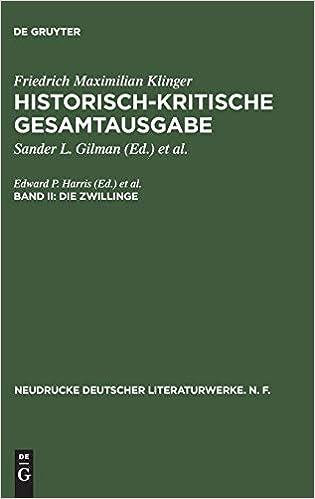 Como Descargar Un Libro Historisch-kritische Gesamtausgabe, Band Ii, Die Zwillinge Epub Gratis En Español Sin Registrarse