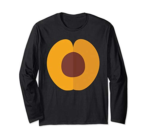 Peach Halloween Costume Fruit Food Groups Long Sleeve T-Shirt ()