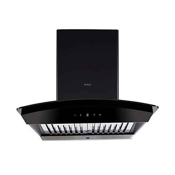 Elica 60 cm 1200 m3/hr Auto Clean Chimney (WDAT HAC 60 NERO, 2 Baffle Filters, Touch Control, Black)