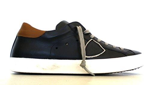 Modello Di Philippe, Gli Uomini Della Scarpa Da Tennis Blu Blu Marrone +