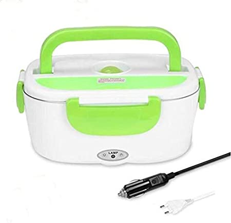 Marbeine 2 en 1 Bo/îte Chauffante Lunch Box pour Voiture ou Maison Rouge Bo/îte /à Lunch Electrique Bo/îte Alimentaires Chauffe-Repas en Acier Inoxydable