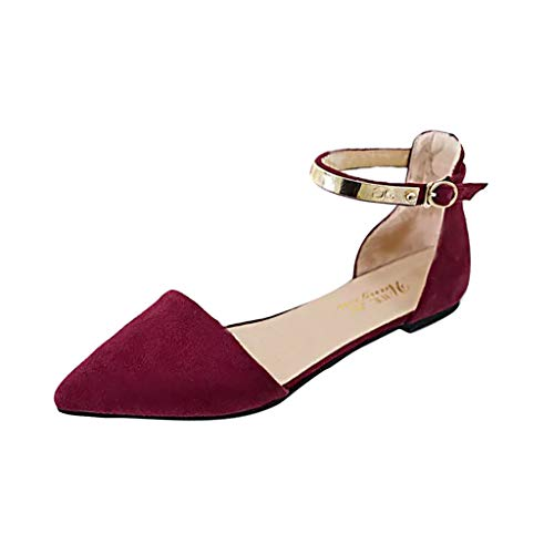 Pointed Flats Shoes Women,Londony Faux Leather D'Orsay Pointed Toe Flats Classic Pointy Toe Ballet Slip On Flats Shoes Red - Flute Spiral Pointed Taps