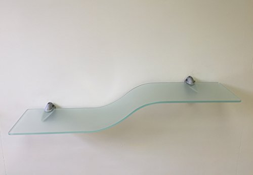 Review Contempo Bent Shelf Frosted with Silver Brackets By JOZEFINA ATELIER by JOZEFINA ATELIER