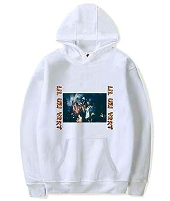 Rapper LIL UZI VERT printing hoodie round neck pullover cotton top casual white sweatshirt