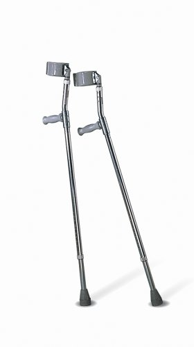 Medline MDS805162 Aluminum Forearm Crutches, Youth,  Pack of 2