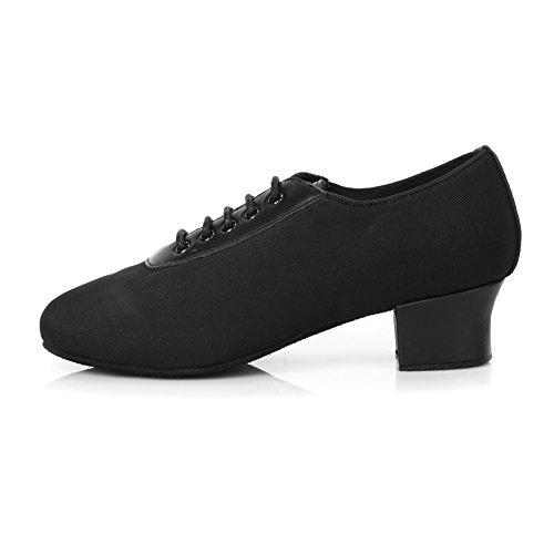 Zapatillas De Baile Para Mujer Roymall En Piel Latina / Zapatillas De Salón / Zapatillas De Salón, Modelo Af50 Black-5