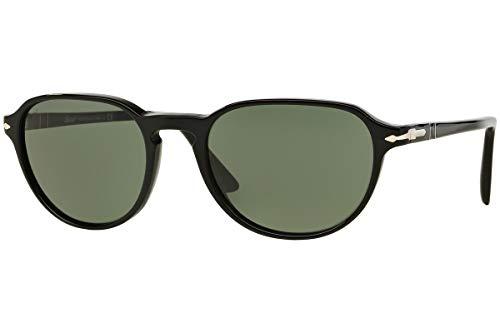 Amazon.com: Persol PO3053S anteojos de sol Negro w/verde ...