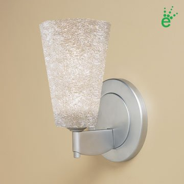 Bling II 1 Light Wall Sconce Finish: Chrome, Shade Color: Silver, Bulb Type Type: 1 x 3W LED (Included)