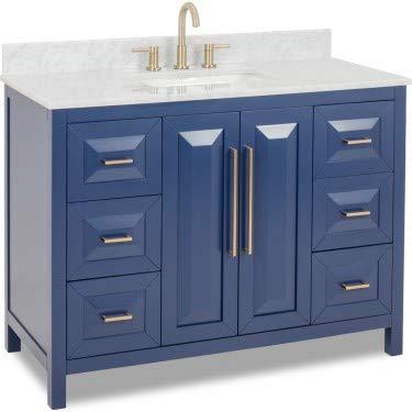 Jeffrey Alexander Limited Edition Cade Contempo Vanity, Hale Blue, VN-CAD-48-BL-WC ()