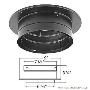 M&G DuraVent 6DVL-ADT Duravent DVL Chimney Adapter, Black