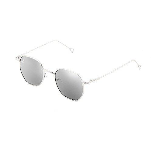de Plata sol mujer espejo BASQUIAT Plata Gafas TWIG hombre S4aqdwC