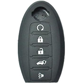 3 BTNS Silicone Skin Cover Remote Key Holder For Nissan Pathfinder Titan Versa