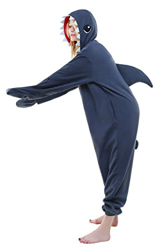 Cozy Shark Adult Costumes (Halloween Lounge Homewear Anime Pyjamas Adult Unisex Onesie Cosplay Costume (M, Shark))