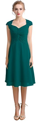 VaniaDress Women V Neck Short Evening Dress Formal Gown V100LF Teal Green US16 from VaniaDress