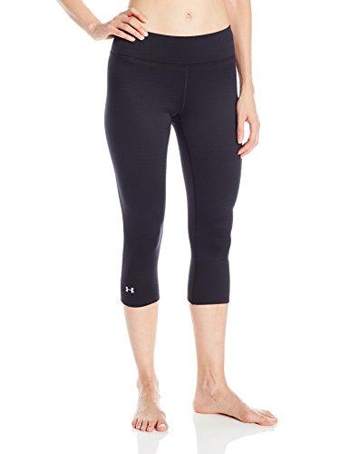 Base 2 Legging - Under Armour Outerwear Women's Base 2.0 3/4 Leggings, Small, Black